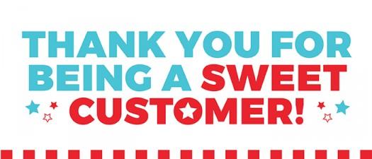 THANKYOUFORBEINGASWEETCUSTOMER sugarwishecard