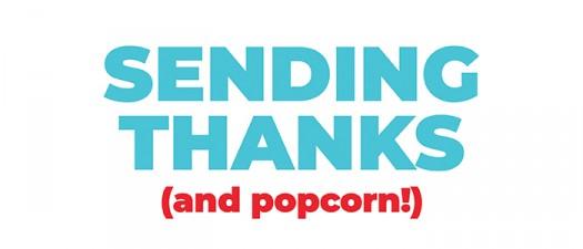 THANKS andpopcorn style sugarwishecard popcorn
